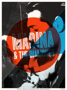 GigPosters.com - Marina And The Diamonds - Young The Giant #gig #poster