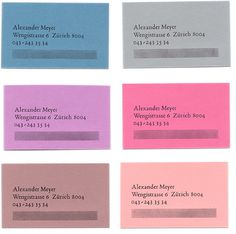 Alexander Meyer business card Letterpress www.xyz.ch
