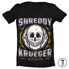 Shirt Designs on the Behance Network #shreddy #blade #saw #shirt #lightning #tee #bolts #curses #skull #krueger