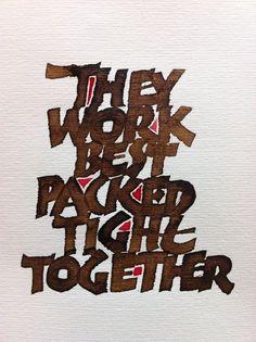 Peter Thornton calligraphy #design #graphic #typography