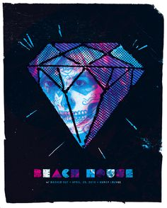 GigPosters.com - Beach House - Washed Out #gig #screenprint #poster