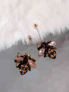 Mr.Bee Black Statement Earrings
