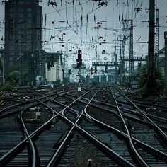 FFFFOUND! | DETHJUNKIE* #rail #wires #station