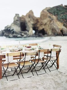 Likes | Tumblr #chairs #rock #long #beach #table