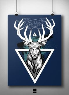 Deer #deer #design #graphic #art #poster