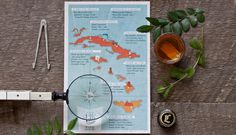 Le Lab Island Cocktail Menu on Behance #map