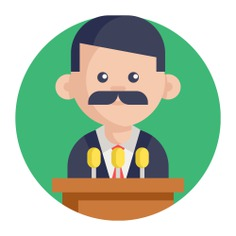 See more icon inspiration related to man, speech, worker, group, user, avatar, teamwork, feature, lectern, lecture, employee, conference, team, presentation, networking, business and communication on Flaticon.