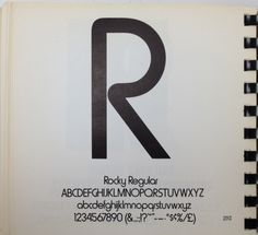 Daily Type Specimen | Rocky Regular. This has nothing to do with Font... #type #specimen #typography