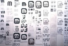 Lance Wyman Zoo pictograms #wyman #process #zoo #pictograms #lance