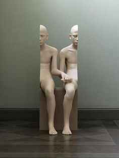 Imaginary Foundation #sculpture #epic #optical #illusion #twins #half