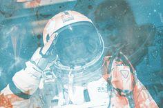 Felix Red Bull Stratos #old #design #graphic #illustration #colors #vintage #poster #comics