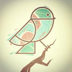 Bird Illustration, made at: Topping Creative Studio