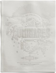 Kevin Cantrell Design/ Store/ Luminares Poster #poster #typography