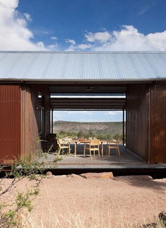 Off-the-Grid Porch House in West Texas 2, steel structure