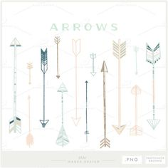 Arrow Clip Art PNG Files Photoshop Brushes Digital