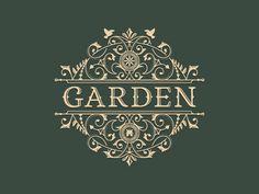 Garden #flourish #branding #logo #garden #type