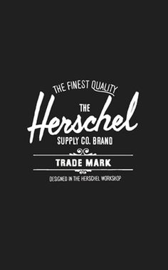 Herschel Supply Co #logo #branding #herschel #tyler quarles #supply co