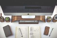 The Grovemade Desk Collection in technology style fashion main Category #computer #accessories #desktop #wood