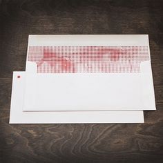 Red Square Stationery - FPO: For Print Only #envelope #stationery