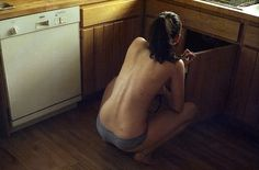 Unknown : Trevor Triano #machine #girl #trevor #triano #washing #wood #back #underwear #light