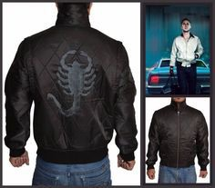 Ryan Gosling Scorpion Drive Black Jacket