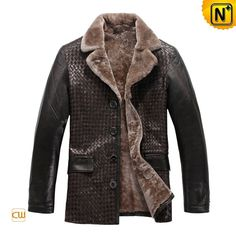 Genuine Sheepskin Coat CW819177 - cwmalls.com #sheepskin #coat