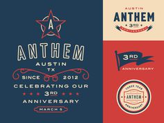 Anthem #graphic #clean #simple #up #logo #fun #lock