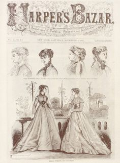 Harpers Bazaar 1867 November #fashion #illustration #vintage