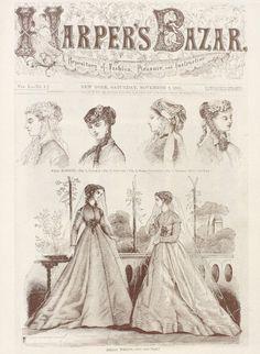 Harpers Bazaar 1867 November #fashion #illustration #vintage
