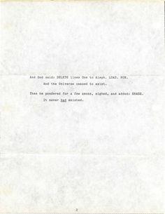 Letters of Note: siseneG #type #paper #arthur c #clarke #story
