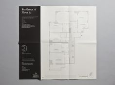 Floor plan #brochure #folded #sophisticated