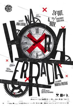 Na Hora Errada (In the Wrong Time) poster. #illustration #time #poster #typography