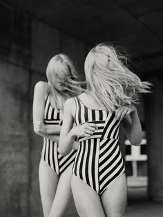 chaambler:Helmut Newton #pattern #stripes #fashion