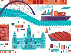 Glasgow Map by Brent Couchman