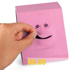 Face #Bank #Creative #Electric #Induction #Piggy #Bank #Toy #- #PINK