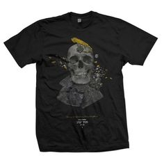SOLID FREQUENCY #black #shirt #tee #skull #lizard