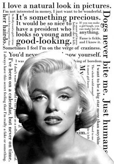 Marilyn Quotes - Picture by ~pantunes on deviantART #marilyn #poster #monroe