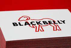 Blackbelly by Berger & Föhr #branding #business card