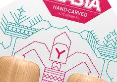 Vlasta Kitchenware packaging by Galya Akhmetzyanova & Pavla Chuykina branding #wood