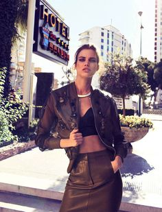 Rianne ten Haken by Xavi Gordo for Elle Spain #fashion #model #photography #girl