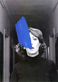 Study for Inner Improvement sequence by Helena Almeida :: via but does it float #stroke #paint #photography #brush #blue