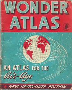 WonderAtlas_VintageBook #design #book #cover #vintage #typography