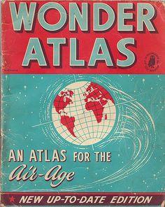 WonderAtlas_VintageBook #design #book #cover #vintage #typography
