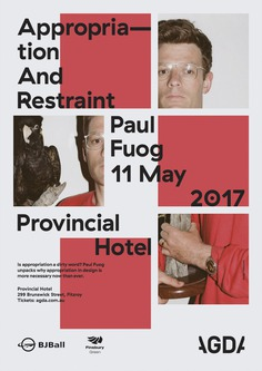 """""""Appropriation And Restraint"""" lecture poster – Fonts In Use"""