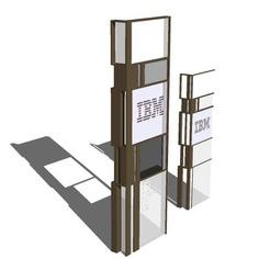 Signage | Sign Design | Wayfinding | Wayfinding signage | Signage design | Wayfinding Design | 综合指示牌模型