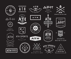Ath sports nutrition concepts #vintage #logos