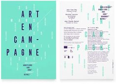 WA75 > Art en Campagne #design #graphic #typography