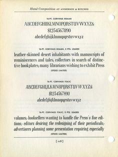 Corvinus type specimen #type #specimen #typography