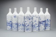 LOVE Creative x Chris Martin x Johnnie Walker House - Blog - Chris Martin #illustration #bottle #whiskey #johnnie walker