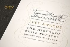 design work life » cataloging inspiration daily #awards #invitation #classical #ivey #staming #frey #retail #fame #foil #jillian